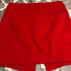 Express red skirt size 10